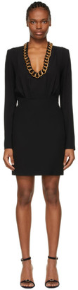 Givenchy Black Chain Trim Mini Dress