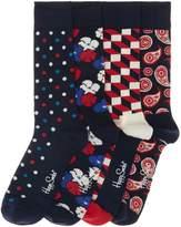 Happy Socks Men's Gift Box 4 Pack Floral Socks