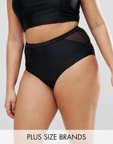 Junarose Mesh Insert Bandage Bikini Bottoms