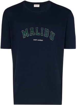 Saint Laurent Malibu logo print T-shirt