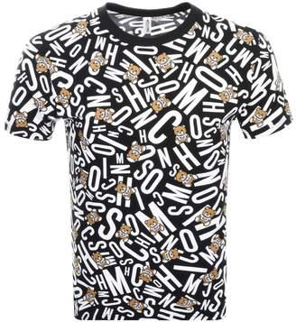 Moschino Logo T Shirt Navy