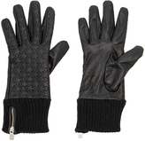 Maison Scotch Leather Rib Cuff Gloves