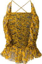 Etoile Isabel Marant ruffled top - women - Silk/Viscose - 36