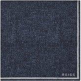 Reiss Craven - Silk Pocket Square in Blue, Mens
