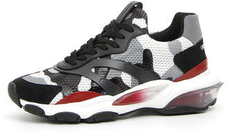 Valentino Garavani Men's Bounce Camo Leather Sneakers