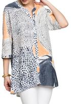 Nic+Zoe Printed Button-Front Blouse