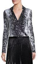 Diane von Furstenberg New Jeanne Splatter-Print Bodysuit