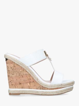 Carvela Sangria Cork Wedge Sandals, White