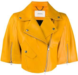 Schumacher Dorothee cropped leather jacket