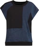 MM6 MAISON MARGIELA Stretch knit-paneled faux suede top