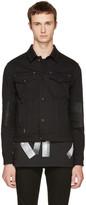 Versace Black Denim Logo Jacket