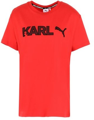 PUMA x KARL LAGERFELD x KARL Tee High Risk Red T-shirt