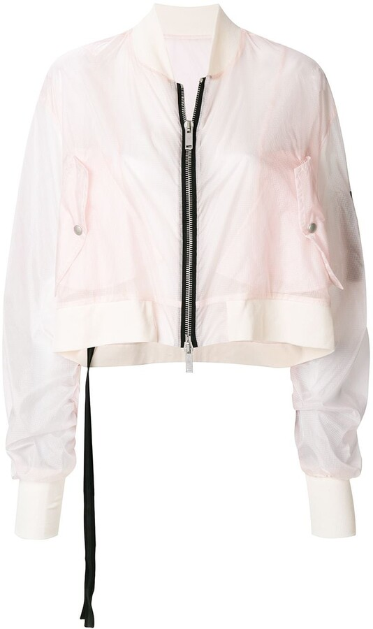 Unravel Project cropped bomber jacket