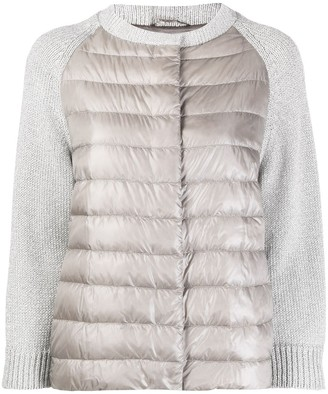 Herno Knitted Sleeve Padded Jacket