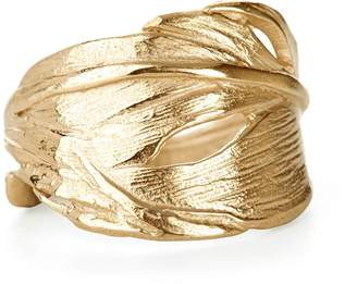 Chupi Swan Feather Ring Gold
