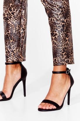 Nasty Gal Womens Keep On Dancin' Faux Leather Stiletto Heels - Black