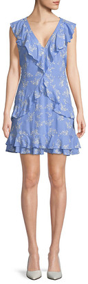Parker Ruffle Front Floral Dress