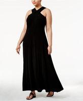 MICHAEL Michael Kors Size Halter-Neck Maxi Dress