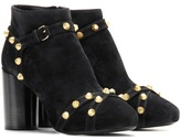 Balenciaga Embellished suede ankle boots