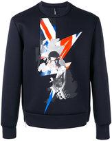 Neil Barrett Sid Vicious sweatshirt - men - Polyurethane/Viscose - S
