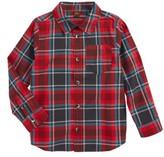 Tea Collection Toddler Boy's Duncan Plaid Woven Shirt