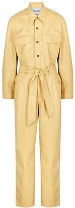 Nanushka Ashton Yellow Faux Leather Jumpsuit