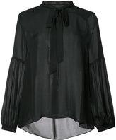 Nili Lotan pussybow blouse