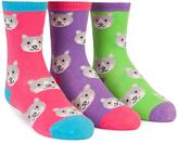 Trumpette Pink & Purple Cat Crew Sock Set - Girls