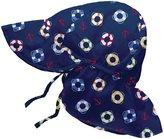 I Play Flap Sun Hat (Baby/Toddler) - Navy-Newborn