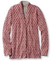 L.L. Bean Women's Premium Supima Cotton Sweater, Open Cardigan Print