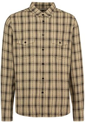 Saint Laurent Checked Print Shirt