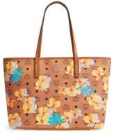 MCM Essentials Floral Print Coated Canvas Shopper