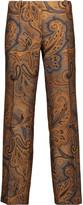 Etro Cropped jacquard slim-leg pants