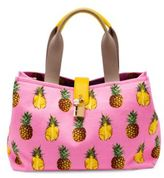 Dolce & Gabbana Pineapple Canvas Tote