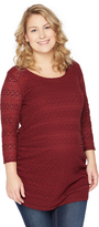 Motherhood Plus Size Lace Detail Maternity Top