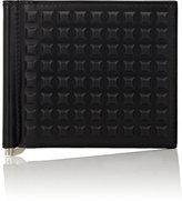 Balenciaga Men's Grid-Embossed Money Clip Wallet-BLACK