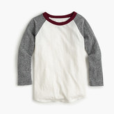 J.Crew Boys' three-quarter-sleeve baseball T-shirt with the softest jersey sleeves