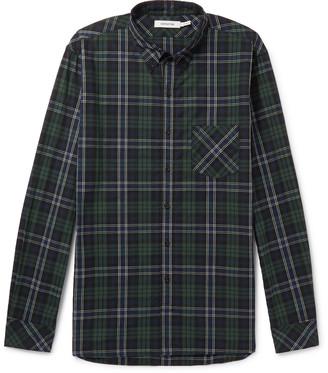 Nonnative Dweller Button-Down Collar Checked Cotton-Flannel Shirt