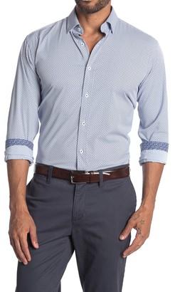 Bugatchi Lattice Shaped Fit Performance Shirt