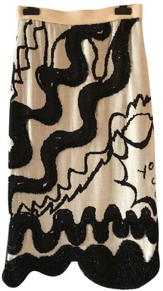 Tsumori Chisato Ecru Wool Skirt for Women