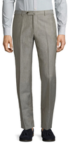 Isaia Wool Solid Trousers