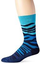 Happy Socks Men's Block Zebra Combed Cotton 1/2 Terry Crew Socks