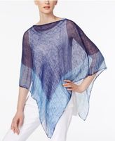 Eileen Fisher Linen Sheer Poncho
