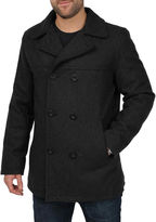 JCPenney Excelled Leather Excelled Faux-Wool Pea Coat-Big & Tall