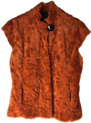 Non Signé / Unsigned Non Signe / Unsigned Orange Faux fur Coat for Women
