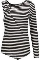 Kain Label Moore Asymmetric Striped Modal Top