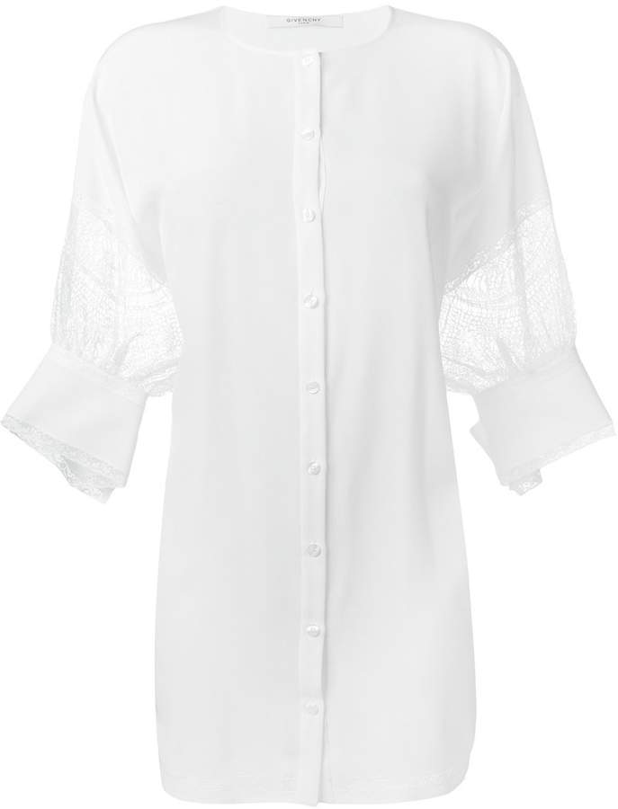 Givenchy floral lace detail lose tunic