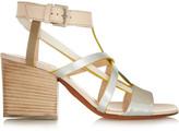 Missoni Metallic leather sandals
