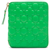 Comme des Garcons Clover Embossed Zip Fold Wallet