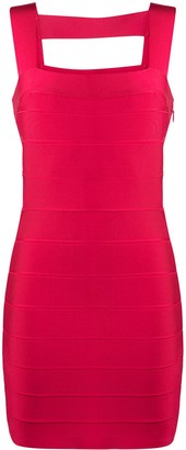 Herve Leger Icon cut-out dress